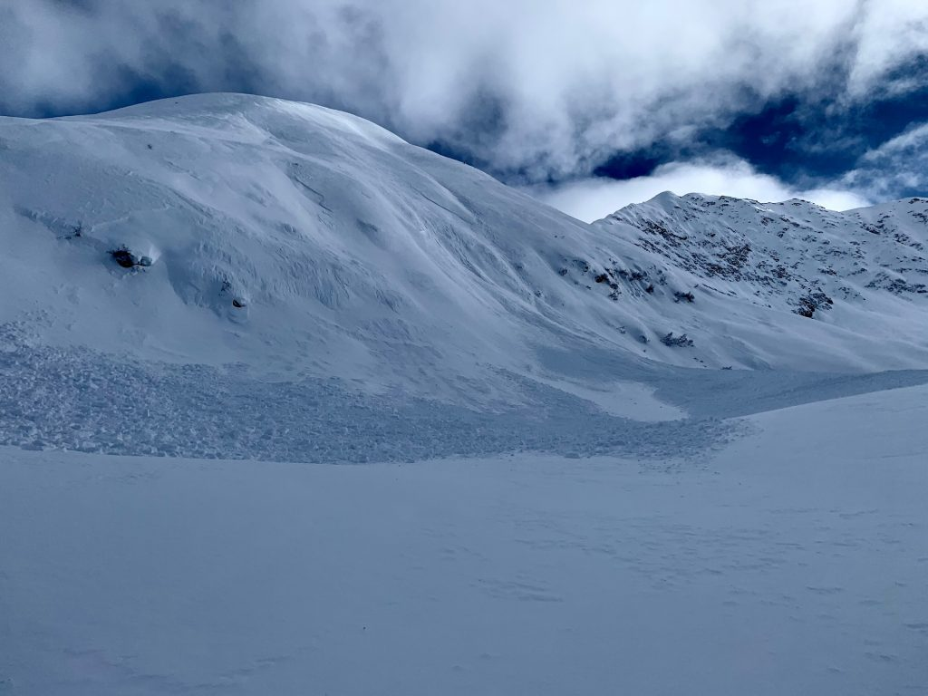Debris from a natural avalanche on Captain's Chair, 02.27.2021. Photo: Graham Predeger